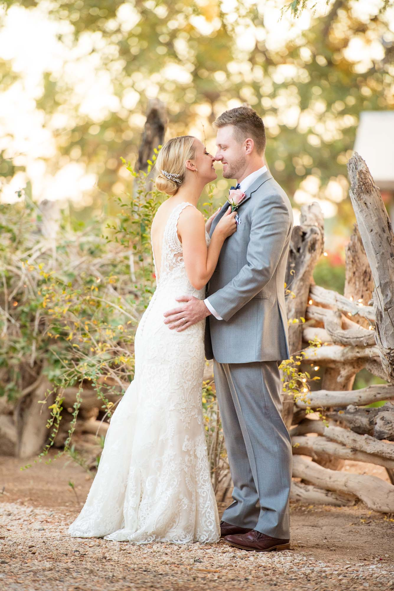 Romantic Bride And Groom Country Themed Wedding