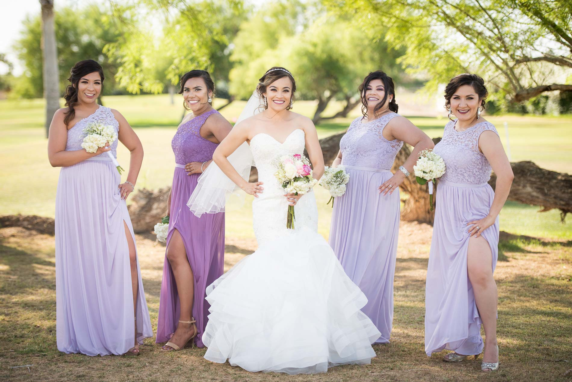 Private club wedding ariday and abel fallbrook photography a portrait of ariday and her bridesmaids in their mauve hued dresses on the grassy lawns ombrellifo Gallery